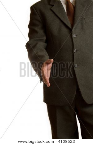 Businessman Gives A Hand