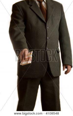 Businessman Gives Money