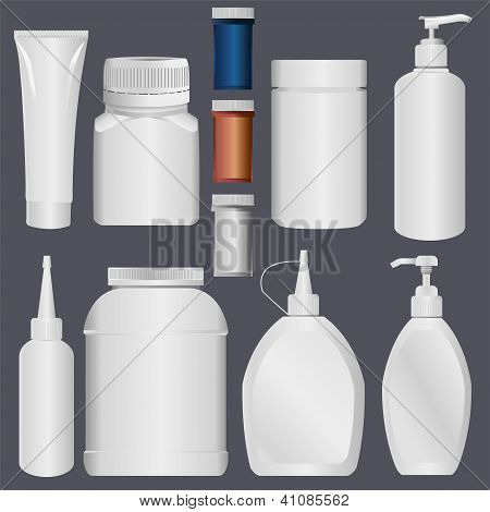 Plastic Bottle and Lotion Plastic Tube