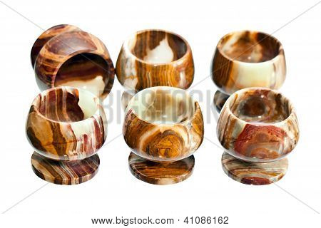 Onyx Glasses Isolated On White Background
