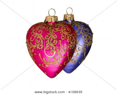 Two Christmas Hearts