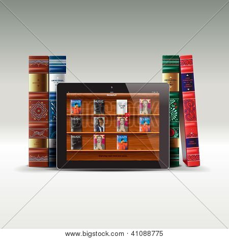 Digital and real books