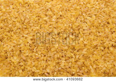 Bulgur Wheat Grains Forming Textured Background