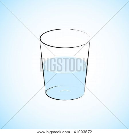 Half Full Water Glass