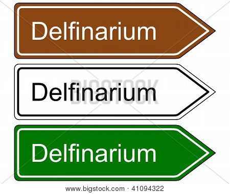 Direction Sign Dolphinarium