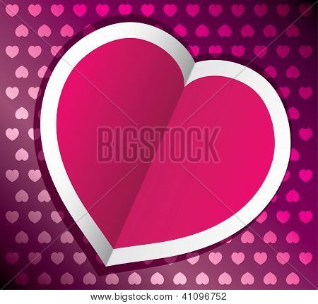 Vector Heart For Valentine's Day