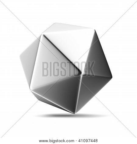 Metal figure of icosahedron