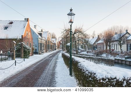 Winter In A Historic Village In The Netherlands