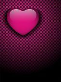 foto of emo  - Valentines Day Glossy Emo Heart - JPG