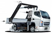 picture of wrecker  - Vector Cartoon Lkw Truck with Crane - JPG