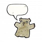 pic of wombat  - cartoon wombat with speech bubble - JPG