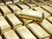 stock photo of billion  - Fine gold bars - JPG