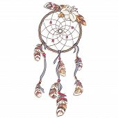 picture of dreamcatcher  - Dreamcatcher vector  illustration - JPG
