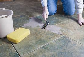 image of grout  - Tile grout repair - JPG