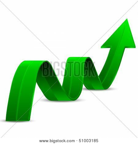 Abstract Green Arrow Up