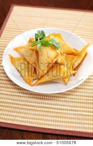 Oriental deep fried wontons