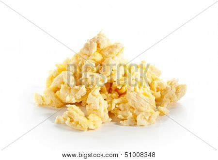 Scrambled Eggs Isolated over White