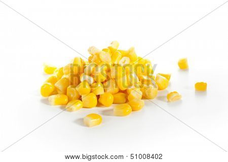 Corn Isolated over White