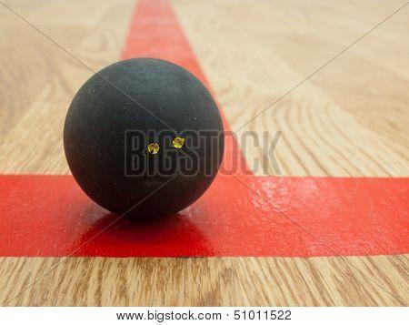 Squash Ball On T-line
