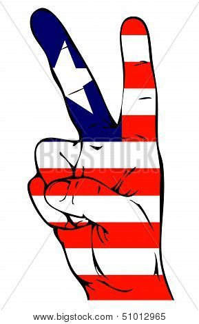 Peace Sign of the Liberian flag