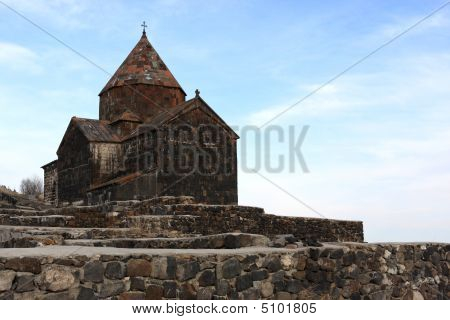 Church On Little Peninsula In Sevan