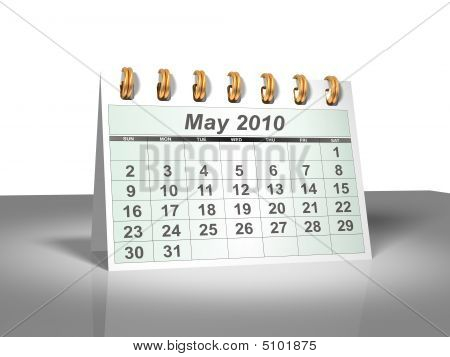 Desktop Calendar (3D). May, 2010.