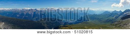 Panorama of the swiss alps