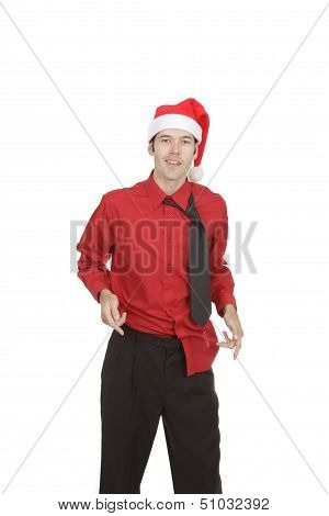 Rumpled Holiday Office Worker