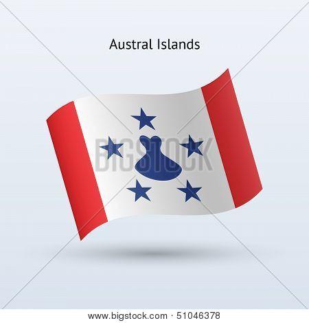 Austral Islands flag waving form.