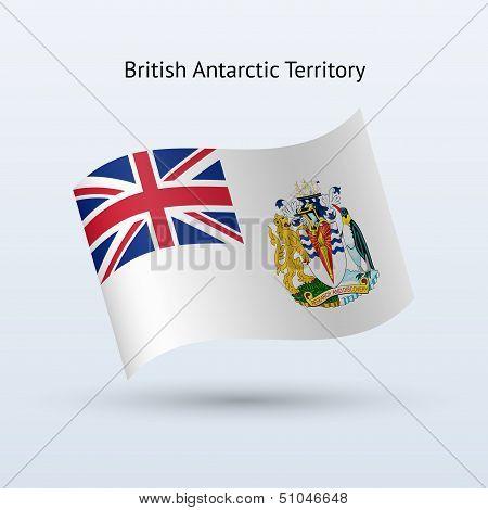 British Antarctic Territory flag waving form.