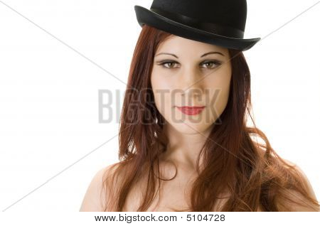 Redhead With Bowler Hat.