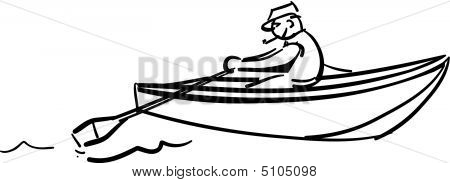 Man In Row Boat