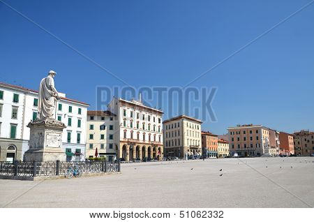 Piazza della Republica in Livorno, Italy