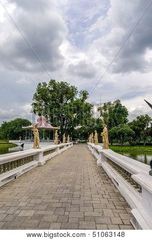 Sculptures In Bang Pa-in Royal Palace.