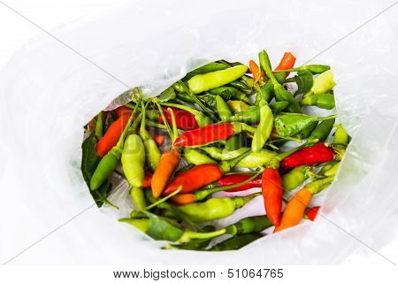 Mixed Small Birds Eye Chilli Peppers