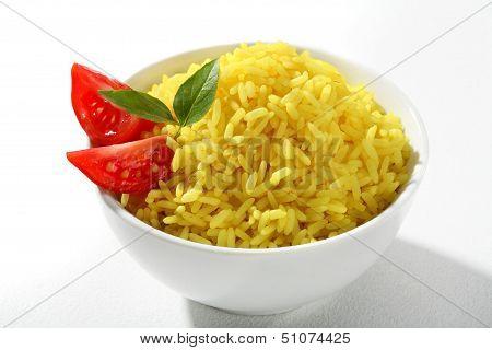 Yellow rice dish