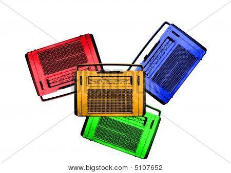 Viejas Radios Retro Vintage coloridas