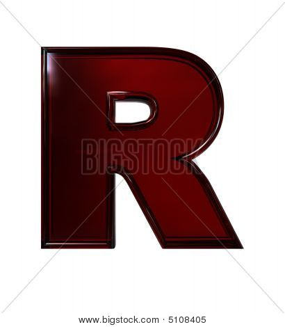 Plastic Letter R