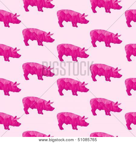 Abstract triangular pig
