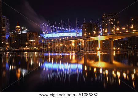 False Creek Vancouver Night Reflections