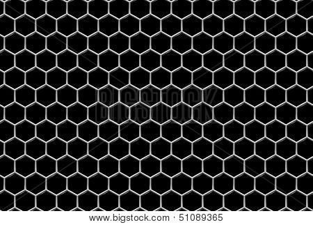 Steel Grid With Hexagonal Holes Industrial Seamless Background