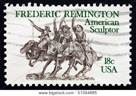 Postage Stamp Usa 1981 Sculpture By Frederic Remington