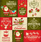 stock photo of christmas claus  - Vector set of Christmas symbols - JPG