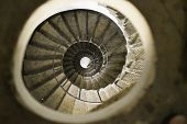 pic of spiral staircase  - Spiral staircase in lighthouse. Perspective experiment. Hight.