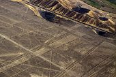 picture of geoglyph  - Acueduct and Trapezoids - JPG