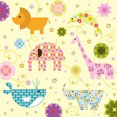 Pattern Design With Animals poster