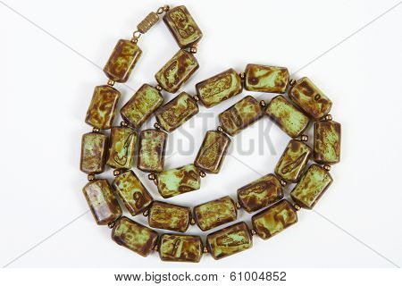 Semi-precious Stones Against White Background