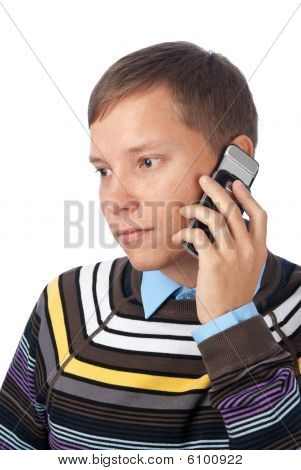 Man Calling On Mobile Phone