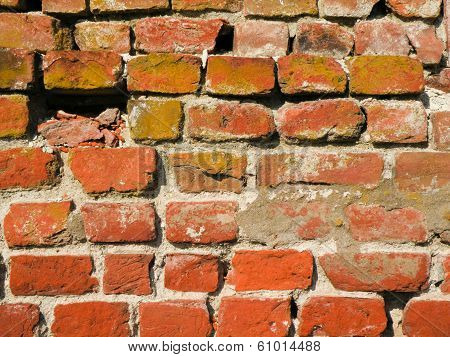 Crumbling Brick Wall