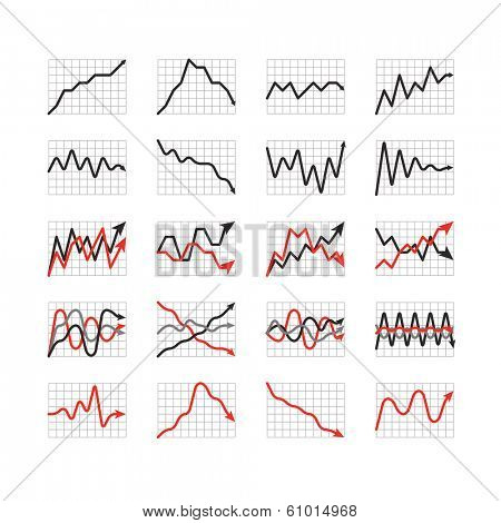 Graphic business ratings and charts collection. Infographic elements